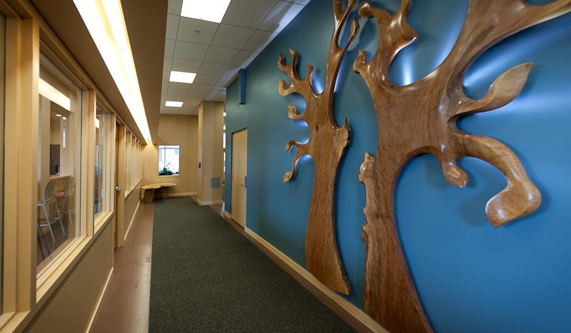 Hallway with Local Artwork
