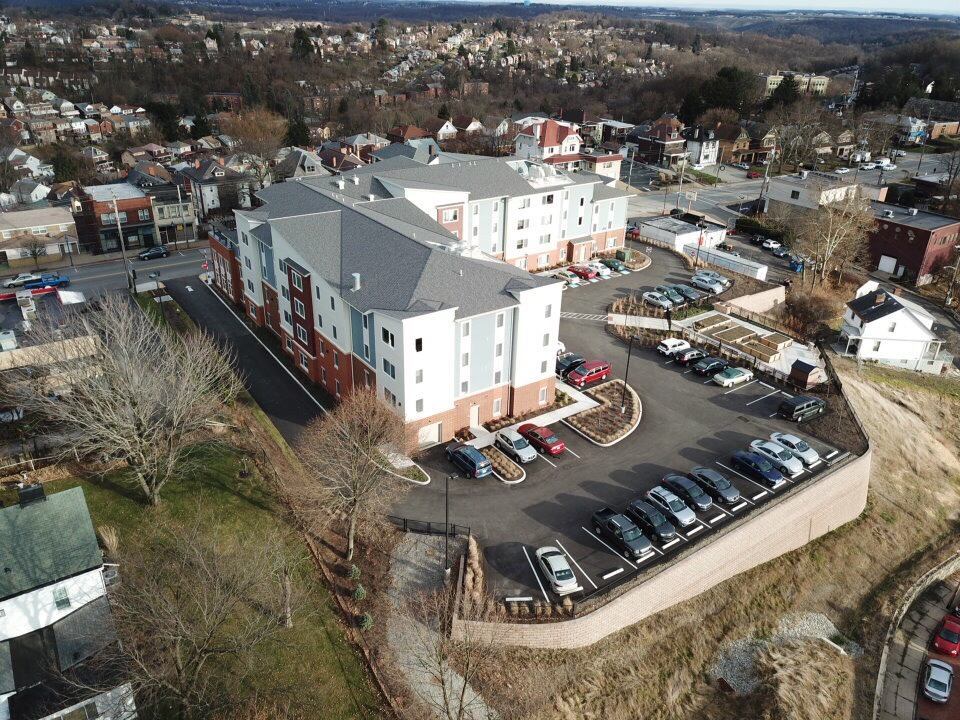 Aerial Shot of Building Rear